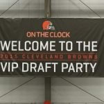 Banner stating: Welcome to the 2015 Cleveland Browns Draft party