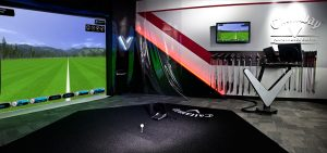 Indoor Golf Simulator with Performance Technology Equipment.