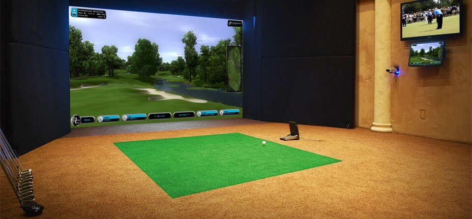Golf Room with Residential Simulator.