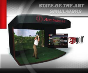 Photo of rental Simulator Booth with Golfer, powered by e6 golf